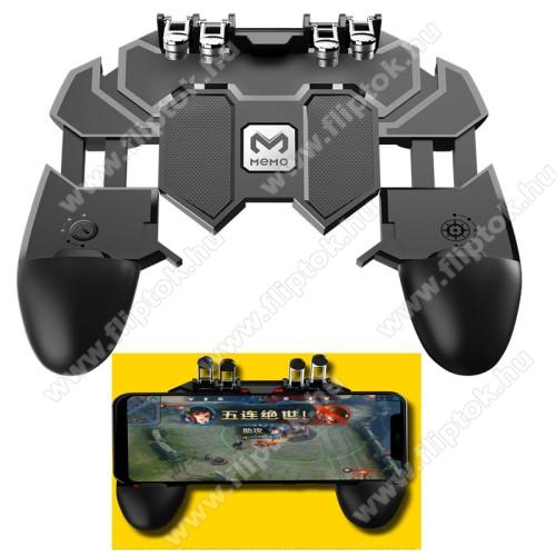 Huawei Enjoy 10MEMO AK66 UNIVERZÁLIS Kontroller / Joystick - ravasz FPS játékokhoz, PUBG-hez ajánlott, 67-90mm-ig nyíló bölcsővel - FEKETE - GYÁRI