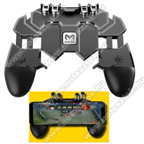 SAMSUNG Galaxy S10 Lite (SM-G770F)MEMO AK66 UNIVERZÁLIS Kontroller / Joystick - ravasz FPS játékokhoz, PUBG-hez ajánlott, 67-90mm-ig nyíló bölcsővel - FEKETE - GYÁRI