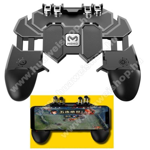 HUAWEI Mate 8MEMO AK66 UNIVERZÁLIS Kontroller / Joystick - ravasz FPS játékokhoz, PUBG-hez ajánlott, 67-90mm-ig nyíló bölcsővel - FEKETE - GYÁRI