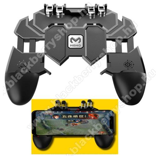 BLACKBERRY Q20 Classic Non CameraMEMO AK66 UNIVERZÁLIS Kontroller / Joystick - ravasz FPS játékokhoz, PUBG-hez ajánlott, 67-90mm-ig nyíló bölcsővel - FEKETE - GYÁRI