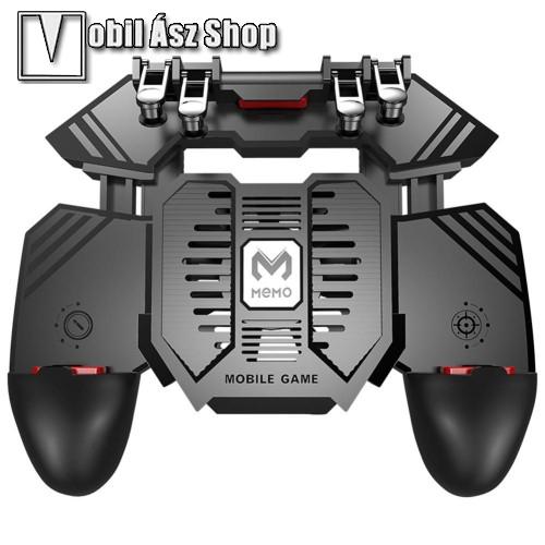 HUAWEI P9MEMO AK77 UNIVERZÁLIS Kontroller / Joystick - ravasz FPS játékokhoz, gamepad, beépített hűtőventilátor, beépített 4000mAh-os akkumulátor tölthető a telefon játék közben, 67-90mm nyíló bölcső, 4,7-6.5