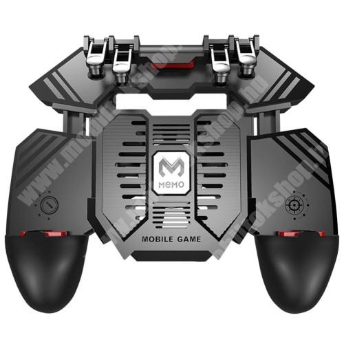 """Elephone S1 MEMO AK77 UNIVERZÁLIS Kontroller / Joystick - ravasz FPS játékokhoz, gamepad, beépített hűtőventilátor, beépített 4000mAh-os akkumulátor tölthető a telefon játék közben, 67-90mm nyíló bölcső, 4,7-6.5""""-os méretig ajánlott - FEKETE - GYÁRI"""