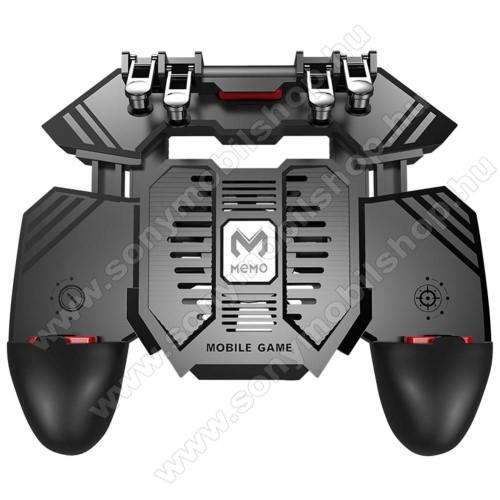 SONY Xperia P (LT22i)MEMO AK77 UNIVERZÁLIS Kontroller / Joystick - ravasz FPS játékokhoz, gamepad, beépített hűtőventilátor, beépített 4000mAh-os akkumulátor tölthető a telefon játék közben, 67-90mm nyíló bölcső, 4,7-6.5