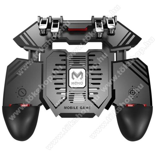 MEMO AK77 UNIVERZÁLIS Kontroller / Joystick - ravasz FPS játékokhoz, gamepad, beépített hűtőventilátor, beépített 4000mAh-os akkumulátor tölthető a telefon játék közben, 67-90mm-ig nyíló bölcsővel - FEKETE - GYÁRI