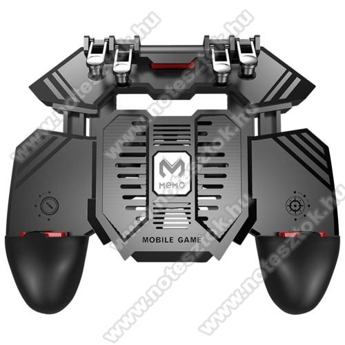 Xiaomi Poco M2 ProMEMO AK77 UNIVERZÁLIS Kontroller / Joystick - ravasz FPS játékokhoz, gamepad, beépített hűtőventilátor, beépített 4000mAh-os akkumulátor tölthető a telefon játék közben, 67-90mm nyíló bölcső, 4,7-6.5