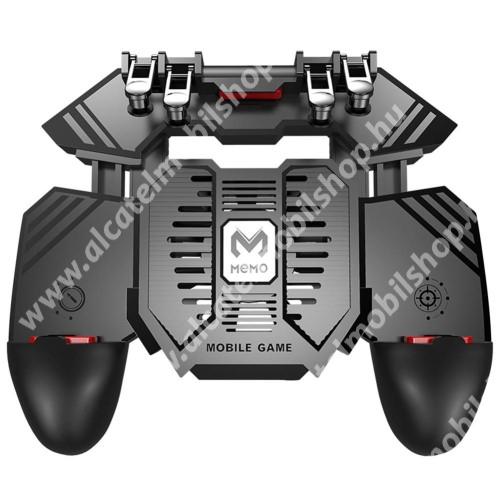 ALCATEL Idol 3 (5.5) MEMO AK77 UNIVERZÁLIS Kontroller / Joystick - ravasz FPS játékokhoz, gamepad, beépített hűtőventilátor, beépített 4000mAh-os akkumulátor tölthető a telefon játék közben, 67-90mm-ig nyíló bölcsővel - FEKETE - GYÁRI