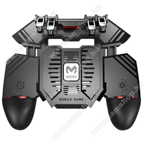 SAMSUNG SGH-i900 OmniaMEMO AK77 UNIVERZÁLIS Kontroller / Joystick - ravasz FPS játékokhoz, gamepad, beépített hűtőventilátor, beépített 4000mAh-os akkumulátor tölthető a telefon játék közben, 67-90mm-ig nyíló bölcsővel - FEKETE - GYÁRI