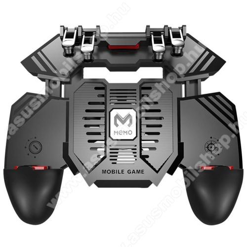 ASUS Zenfone Max Pro (M1) (ZB601KL)MEMO AK77 UNIVERZÁLIS Kontroller / Joystick - ravasz FPS játékokhoz, gamepad, beépített hűtőventilátor, beépített 4000mAh-os akkumulátor tölthető a telefon játék közben, 67-90mm nyíló bölcső, 4,7-6.5