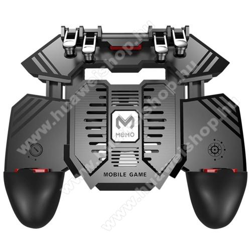 Huawei Ascend P6MEMO AK77 UNIVERZÁLIS Kontroller / Joystick - ravasz FPS játékokhoz, gamepad, beépített hűtőventilátor, beépített 4000mAh-os akkumulátor tölthető a telefon játék közben, 67-90mm nyíló bölcső, 4,7-6.5