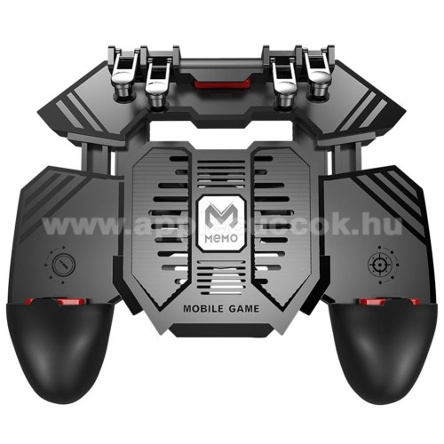 APPLE iPhone XSMEMO AK77 UNIVERZÁLIS Kontroller / Joystick - ravasz FPS játékokhoz, gamepad, beépített hűtőventilátor, beépített 4000mAh-os akkumulátor tölthető a telefon játék közben, 67-90mm nyíló bölcső, 4,7-6.5