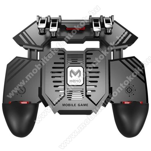 Doogee S95MEMO AK77 UNIVERZÁLIS Kontroller / Joystick - ravasz FPS játékokhoz, gamepad, beépített hűtőventilátor, beépített 4000mAh-os akkumulátor tölthető a telefon játék közben, 67-90mm-ig nyíló bölcsővel - FEKETE - GYÁRI