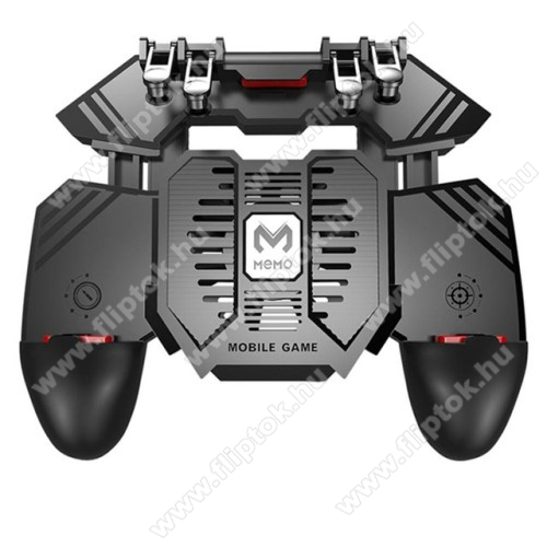MOTOROLA One MacroMEMO AK77 UNIVERZÁLIS Kontroller / Joystick - ravasz FPS játékokhoz, gamepad, beépített hűtőventilátor CSAK microUSB KÁBELLEL MŰKÖDIK, 67-90mm-ig nyíló bölcső - FEKETE - GYÁRI