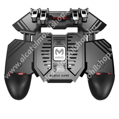 ALCATEL OT-208 MEMO AK77 UNIVERZÁLIS Kontroller / Joystick - ravasz FPS játékokhoz, gamepad, beépített hűtőventilátor CSAK microUSB KÁBELLEL MŰKÖDIK, 67-90mm-ig nyíló bölcső - FEKETE - GYÁRI