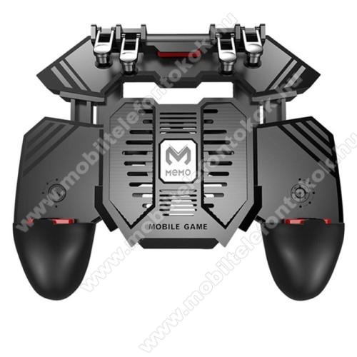LG G5 (H850)MEMO AK77 UNIVERZÁLIS Kontroller / Joystick - ravasz FPS játékokhoz, gamepad, beépített hűtőventilátor CSAK microUSB KÁBELLEL MŰKÖDIK, 67-90mm-ig nyíló bölcső - FEKETE - GYÁRI