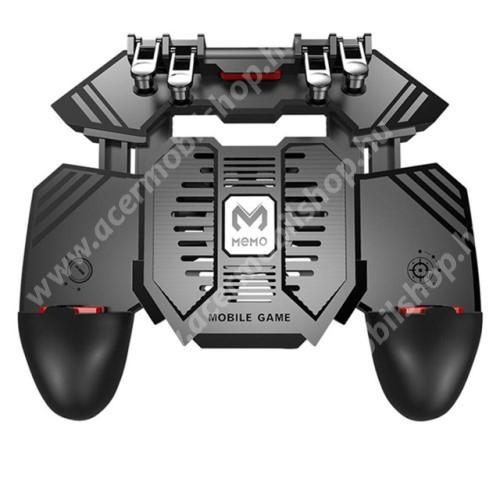 ACER Liquid Z205 MEMO AK77 UNIVERZÁLIS Kontroller / Joystick - ravasz FPS játékokhoz, gamepad, beépített hűtőventilátor CSAK microUSB KÁBELLEL MŰKÖDIK, 67-90mm-ig nyíló bölcső - FEKETE - GYÁRI