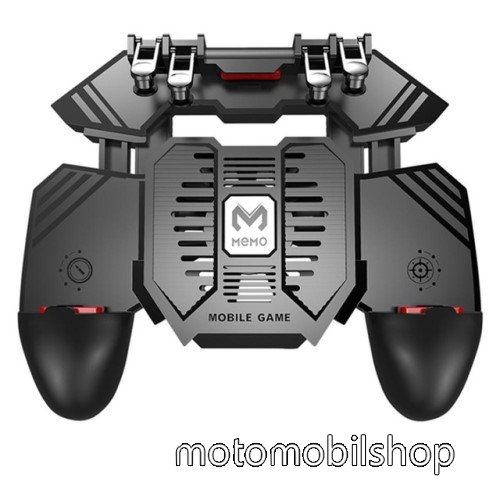 MOTOROLA L2 MEMO AK77 UNIVERZÁLIS Kontroller / Joystick - ravasz FPS játékokhoz, gamepad, beépített hűtőventilátor CSAK microUSB KÁBELLEL MŰKÖDIK, 67-90mm-ig nyíló bölcső - FEKETE - GYÁRI
