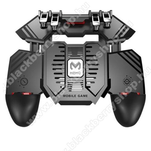 BLACKBERRY AuroraMEMO AK77 UNIVERZÁLIS Kontroller / Joystick - ravasz FPS játékokhoz, gamepad, beépített hűtőventilátor CSAK microUSB KÁBELLEL MŰKÖDIK, 67-90mm-ig nyíló bölcső - FEKETE - GYÁRI