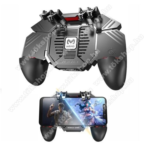 MEMO AK77 UNIVERZÁLIS Kontroller / Joystick - ravasz FPS játékokhoz, gamepad, beépített hűtőventilátor, beépített 1200mAh-os akkumulátor tölthető a telefon játék közben, 67-90mm-ig nyíló bölcsővel - FEKETE - GYÁRI