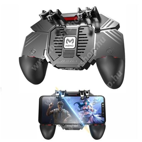 HUAWEI Honor 3 MEMO AK77 UNIVERZÁLIS Kontroller / Joystick - ravasz FPS játékokhoz, gamepad, beépített hűtőventilátor, beépített 1200mAh-os akkumulátor tölthető a telefon játék közben, 67-90mm-ig nyíló bölcsővel - FEKETE - GYÁRI