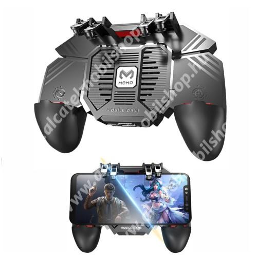 ALCATEL A3 MEMO AK77 UNIVERZÁLIS Kontroller / Joystick - ravasz FPS játékokhoz, gamepad, beépített hűtőventilátor, beépített 1200mAh-os akkumulátor tölthető a telefon játék közben, 67-90mm-ig nyíló bölcsővel - FEKETE - GYÁRI