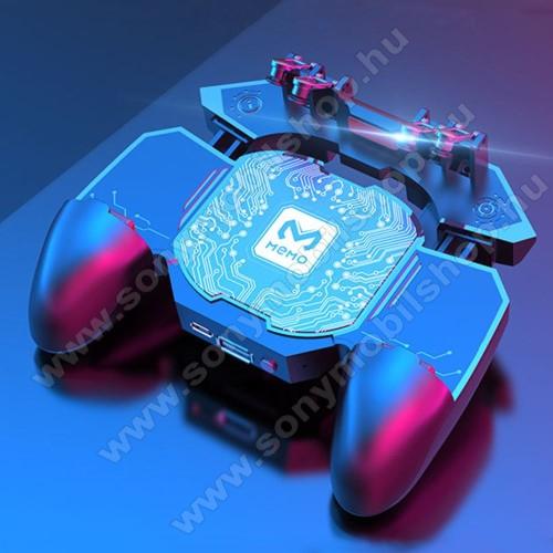 SONY Xperia EMEMO DL88 UNIVERZÁLIS Kontroller / Joystick - ravasz FPS játékokhoz, gamepad, beépített hűtőventilátor, beépített akkumulátor tölthető a telefon játék közben, PUBG-hez ajánlott, 67-90mm-ig nyíló bölcső-os méretig ajánlott - FEKETE - GYÁRI