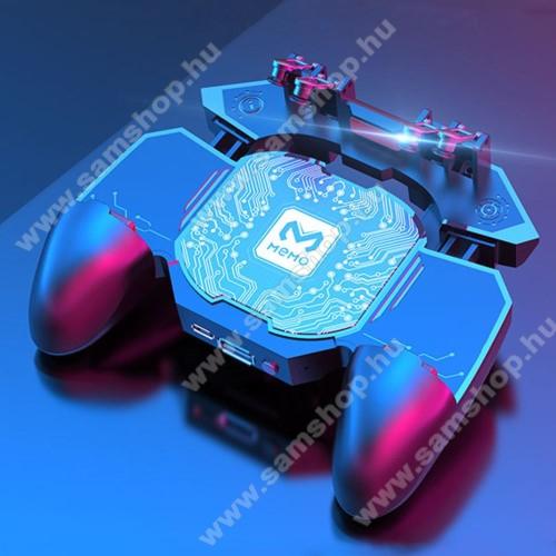SAMSUNG Galaxy S Giorgio Armani (GT-I9010)MEMO DL88 UNIVERZÁLIS Kontroller / Joystick - ravasz FPS játékokhoz, gamepad, beépített hűtőventilátor, beépített akkumulátor tölthető a telefon játék közben, PUBG-hez ajánlott, 67-90mm-ig nyíló bölcső-os méretig ajánlott - FEKETE - GYÁRI