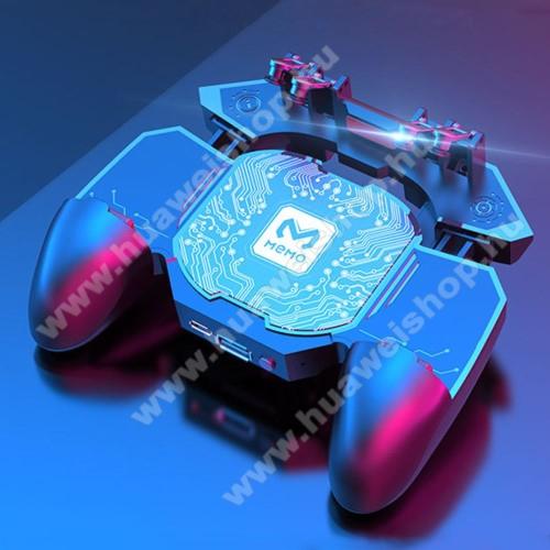 HUAWEI U8650 SonicMEMO DL88 UNIVERZÁLIS Kontroller / Joystick - ravasz FPS játékokhoz, gamepad, beépített hűtőventilátor, beépített akkumulátor tölthető a telefon játék közben, PUBG-hez ajánlott, 67-90mm-ig nyíló bölcső-os méretig ajánlott - FEKETE - GYÁRI