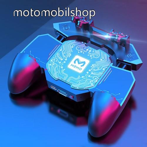 MOTOROLA MPX100 MEMO DL88 UNIVERZÁLIS Kontroller / Joystick - ravasz FPS játékokhoz, gamepad, beépített hűtőventilátor, beépített akkumulátor tölthető a telefon játék közben, PUBG-hez ajánlott, 67-90mm-ig nyíló bölcső-os méretig ajánlott - FEKETE - GYÁRI