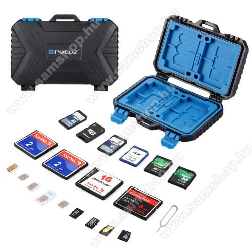 SAMSUNG P1010 Galaxy TabMemória kártya tartó / hordozó 27db-os - FEKETE