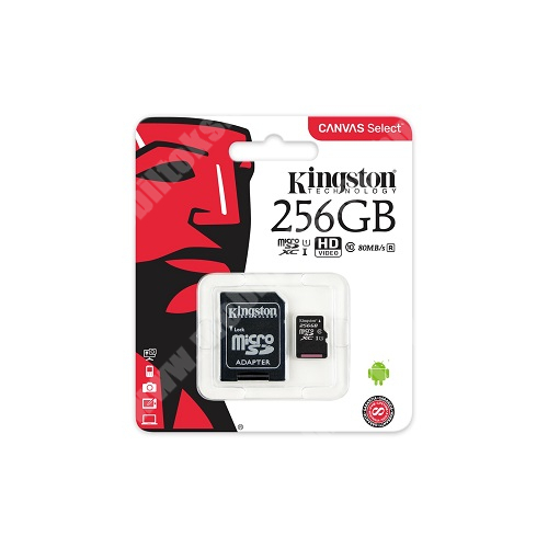 MEMÓRIA KÁRTYA TransFlash 256 GB - microSDXC, Class 10, UHS-i 1, SD adapter - Kingston