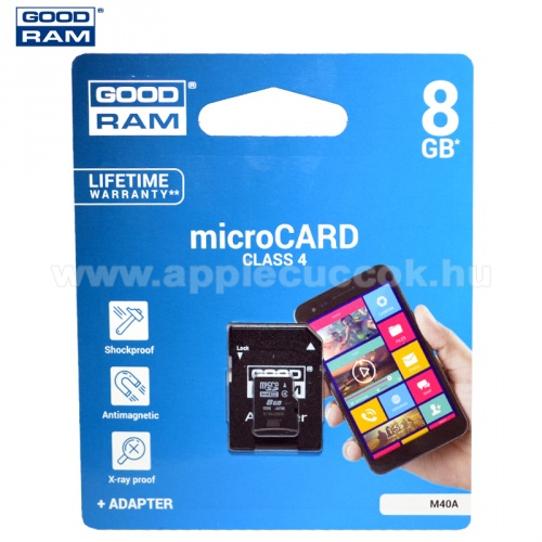 MEM�RIA K�RTYA TransFlash 8 GB (microSDHC - Class 4) + SD adapter