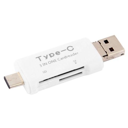 Allview P8 Energy Pro Memóriakártya olvasó - microSD, SD / Type C - FEHÉR