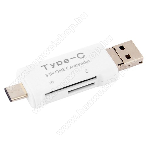 HUAWEI P9Memóriakártya olvasó - microSD, SD / Type C - FEHÉR