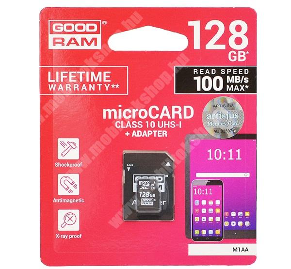 ALCATEL Flash (2017) MEMÓRIAKÁRTYA TransFlash 128GB - CLASS 10, microSDHC - Class 10, 100MB/s max, UHS-1 + SD adapter - M1AA-1280R12 - GYÁRI