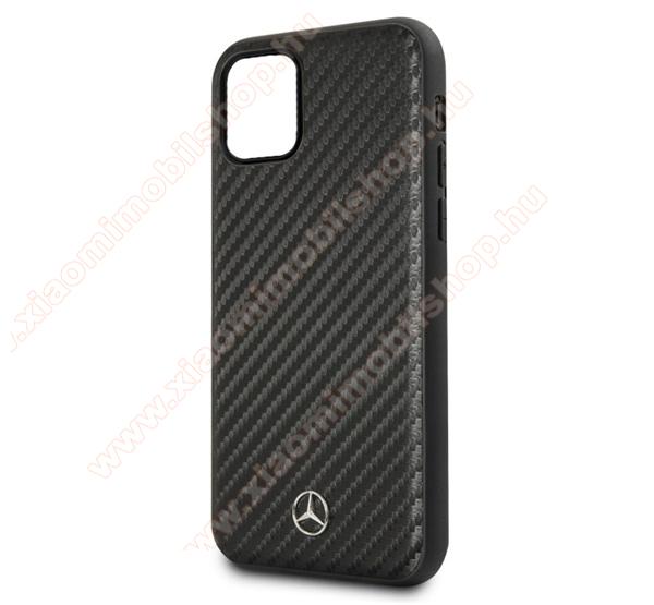 MERCEDES-BENZ műanyag védőtok / hátlap (karbon minta) - FEKETE - APPLE iPhone 11 Pro Max - MEHCN65SRCFBK - GYÁRI