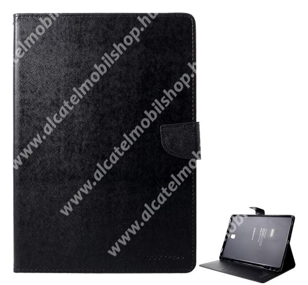 MERCURY Fancy Diary tok álló / flip tok - asztali tartó funkciós, oldalra nyíló, rejtett mágneses záródás, bankkártya tartó zseb - FEKETE - SAMSUNG SM-T830 Galaxy Tab S4 10.5 (Wi-Fi) / SAMSUNG SM-T835 Galaxy Tab S4 10.5 (LTE) - GYÁRI