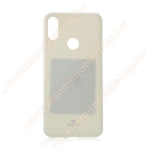MERCURY GOOSPERY szilikon védő tok / hátlap - FEHÉR - csillámporos - Xiaomi Redmi Note 7 / Xiaomi Redmi Note 7 Pro / Xiaomi Redmi Note 7S - GYÁRI
