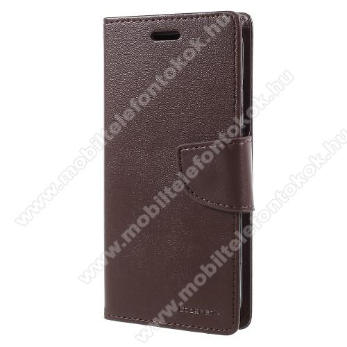 APPLE iPhone XSMERCURY notesz / mappa tok - BARNA - oldalra nyíló flip cover, mágneses záródás, asztali tartó funkció, bankkártyatartó zseb, szilikon belső - APPLE iPhone X / APPLE iPhone XS - GYÁRI