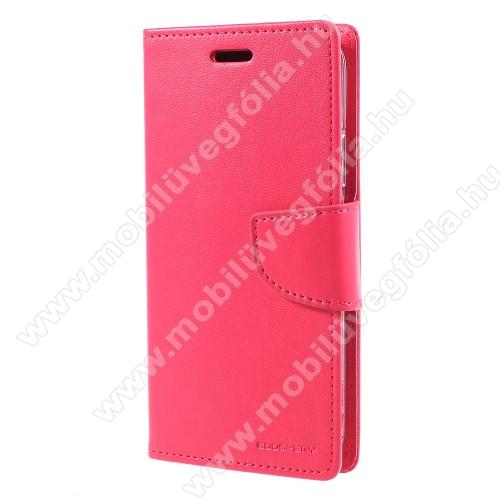MERCURY notesz / mappa tok - RÓZSASZÍN - oldalra nyíló flip cover, mágneses záródás, asztali tartó funkció, bankkártyatartó zseb, szilikon belső - APPLE iPhone X / APPLE iPhone XS - GYÁRI