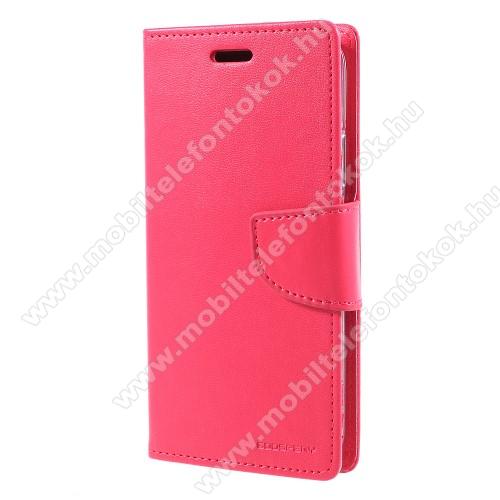 APPLE iPhone XSMERCURY notesz / mappa tok - RÓZSASZÍN - oldalra nyíló flip cover, mágneses záródás, asztali tartó funkció, bankkártyatartó zseb, szilikon belső - APPLE iPhone X / APPLE iPhone XS - GYÁRI