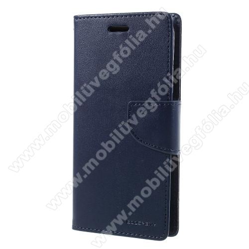 MERCURY notesz / mappa tok - SÖTÉTKÉK - oldalra nyíló flip cover, mágneses záródás, asztali tartó funkció, bankkártyatartó zseb, szilikon belső - APPLE iPhone X / APPLE iPhone XS - GYÁRI