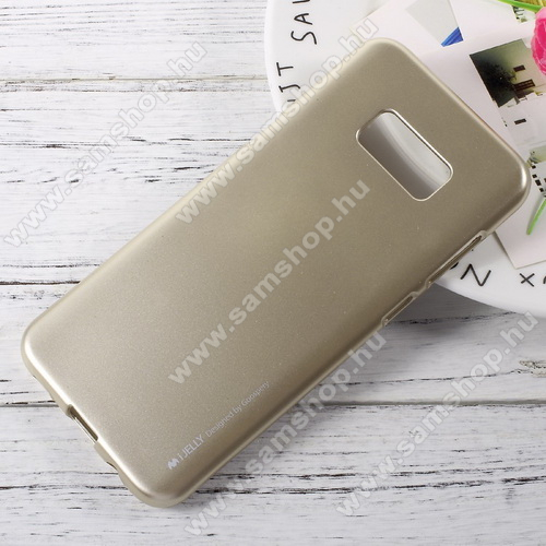 MERCURY szilikon védő tok / hátlap - ARANY - SAMSUNG SM-G955 Galaxy S8 Plus - GYÁRI
