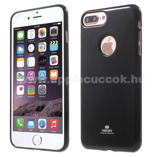 MERCURY szilikon védő tok / hátlap - FEKETE - APPLE iPhone 7 Plus (5.5) - GYÁRI