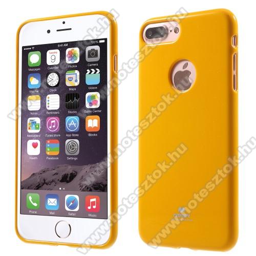 MERCURY szilikon védő tok / hátlap - SÁRGA - APPLE iPhone 7 Plus (5.5) / APPLE iPhone 8 Plus (5.5) - GYÁRI