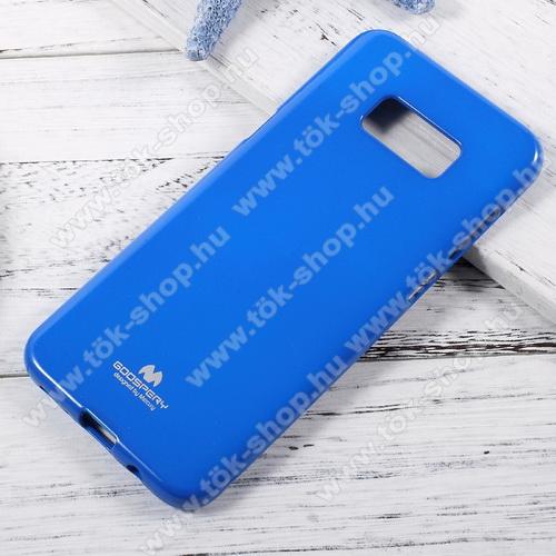 MERCURY szilikon védő tok / hátlap - SÖTÉTKÉK - SAMSUNG SM-G950 Galaxy S8 - GYÁRI