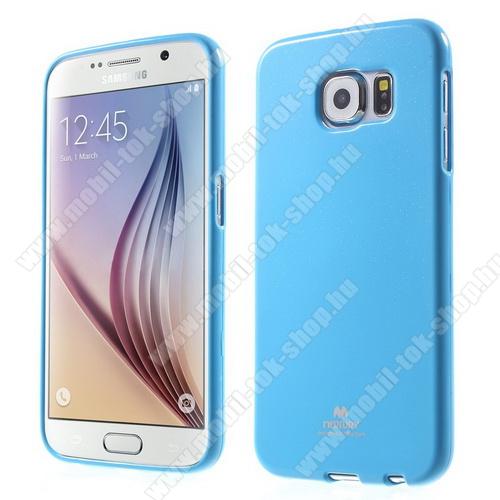 MERCURY szilikon védő tok / hátlap - VILÁGOSKÉK - SAMSUNG SM-G920 Galaxy S6 - GYÁRI