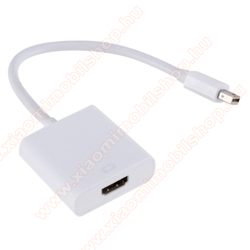 Mini DisplayPort DP - HDMI adapter - 1080p, 30Hz - FEHÉR