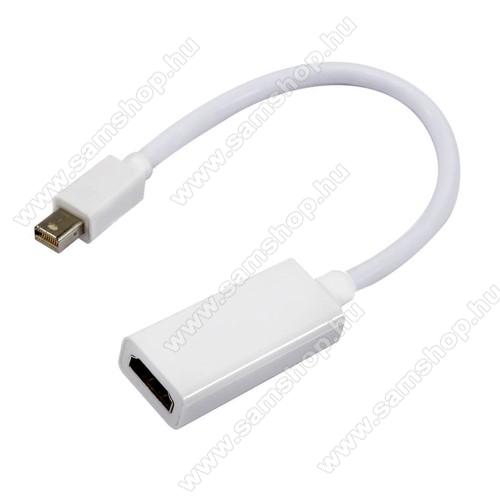 Mini DisplayPort DP - HDMI adapter - 16cm hosszú kábel, 1080p (Full HD) - FEHÉR - Apple Mac Macbook Pro Air