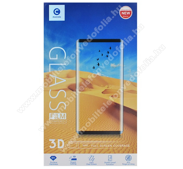 MOCOLO 3D Curved előlap védő karcálló edzett üveg, TELJES KIJELZŐT VÉDI - FEKETE - 9H, 0,33mm, kék fény elleni védelem - APPLE iPhone 11 Pro Max / APPLE iPhone XS Max - GYÁRI