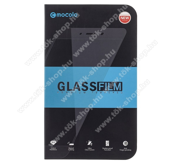 MOCOLO előlap védő karcálló edzett üveg, TELJES KIJELZŐT VÉDI - FEKETE - 9H, 0,33mm, Arc Edge, A teljes felületén tapad! - APPLE iPhone 7 Plus / APPLE iPhone 8 Plus - GYÁRI